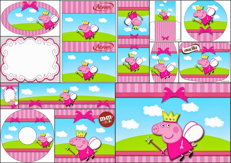 Peppa Pig Fairy Party: Free Printable Candy Bar Labels.