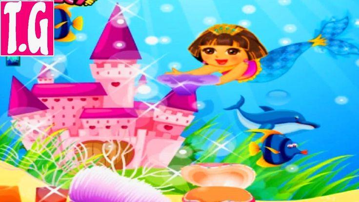 Dora Mermaid Pearl Finding— GAMES FOR KIDS.  HD 1080p