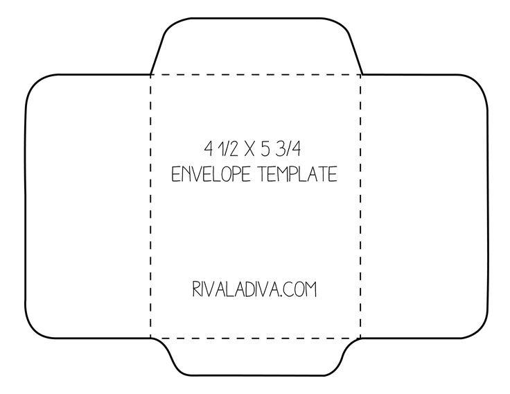 envelope template Envelope Template For 85 X 11 Paper Diy