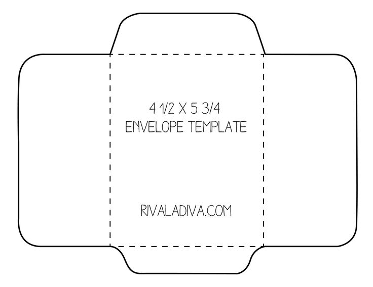 Envelope Template For 8.5 X 11 Paper