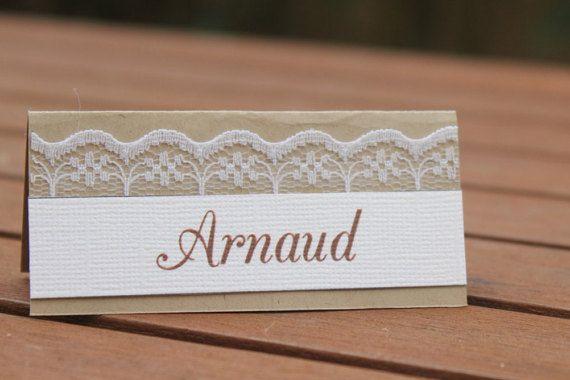 Marque-place 2 gamme mariage champêtre chic par lamarieeinspiree
