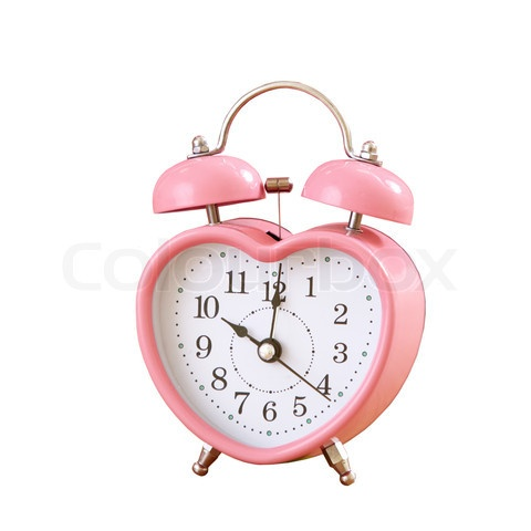 pink heart clock...I want this!!!