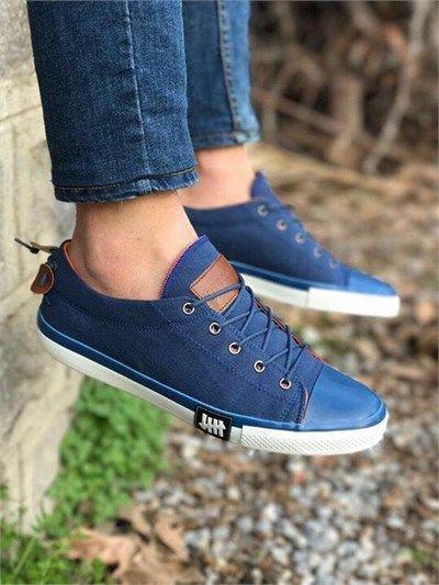 Erkek Günlük Sneakers Spor Ayakkabı Mavi