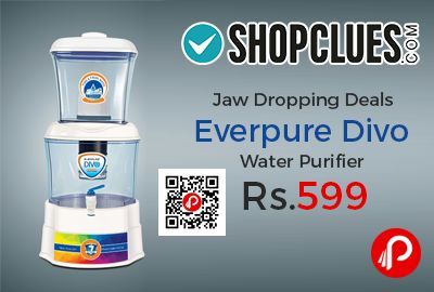 Shopclues #jawdroppingdeals is offering 79% off on Everpure Divo Water Purifier at Rs.599 Only. UNBREAKABLE Mineral Water Pot with 16 Ltr Capacity with Transparent water tanks.   http://www.paisebachaoindia.com/everpure-divo-water-purifier-at-rs-599-only-shopclues/