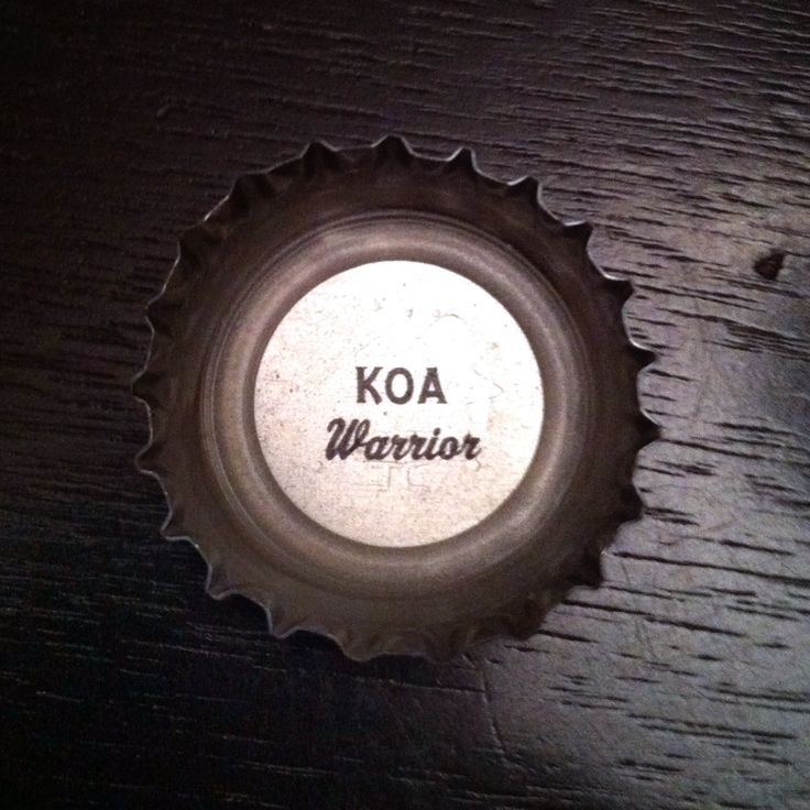 "KOA = Hawaiian for ""Warrior"" (Kona Brewing Company cap) #craftbeer"