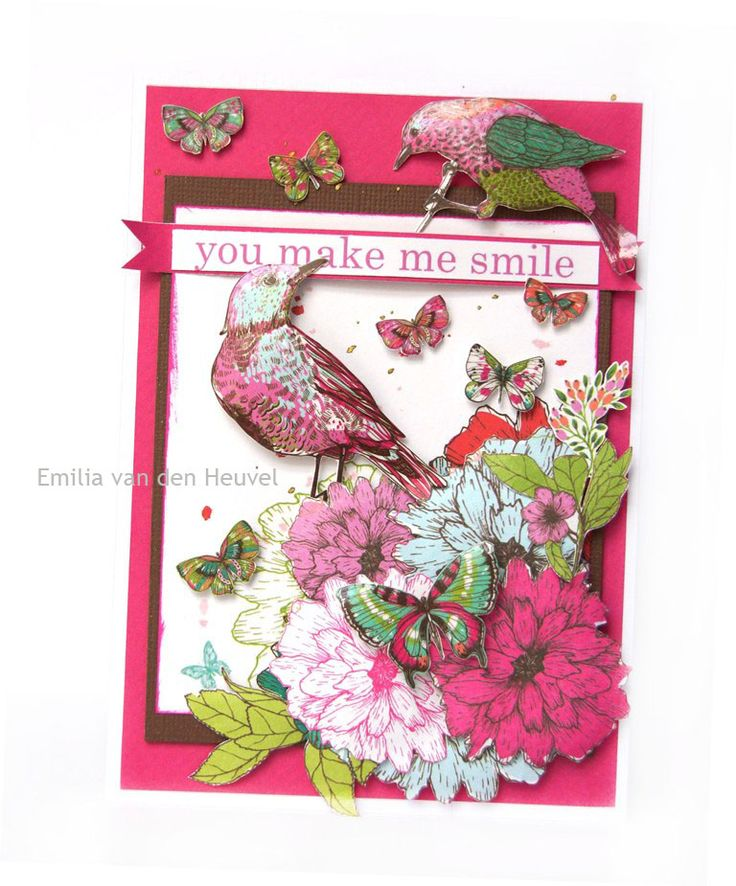 Emilia van den Heuvel: Two cards with Fly Free {Kaisercraft & Merly Impressions}