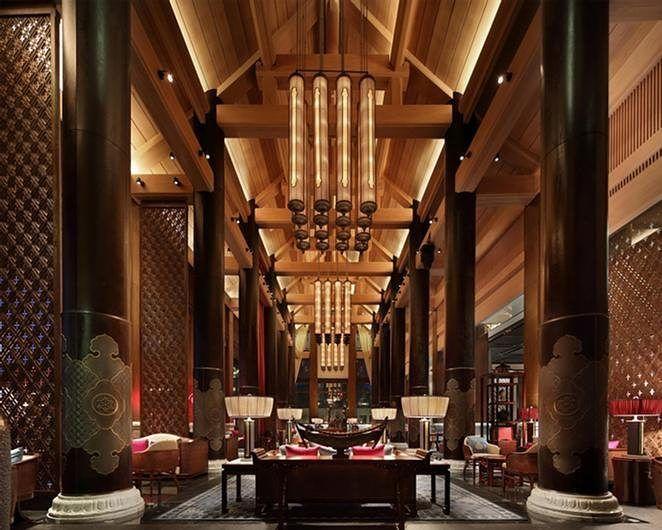 The #WandaVista #Resorts at #Jinghong #China is among the Best of Asia Pacific #DesignAward #winners IIDA Headquarters 2016! Such gallant #interiors  #design #interiordesigning #interiorstyling #furniture #luxuryfurniture #designers #designerUK #design #luxury #luxuryliving #decor #lights #design #hotel #restaurantdesign