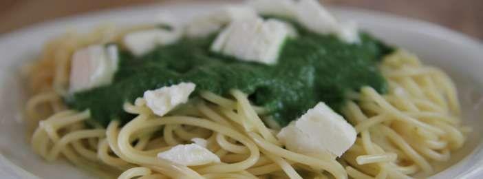 Nopea ja helppo nokkosspagetti