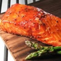 Brown Surgar Spiced Maple Glazed Cedar Plank Salmon Recipe