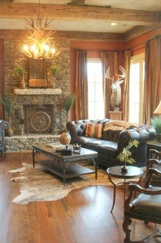 114 best stylish western decorating images on pinterest for Western living room ideas