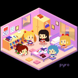 Pixel Room: Sailor Scouts by pyrogoth
