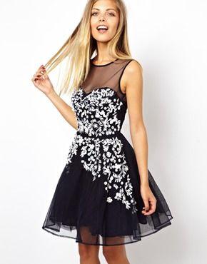 ASOS Embellished Floral Dress