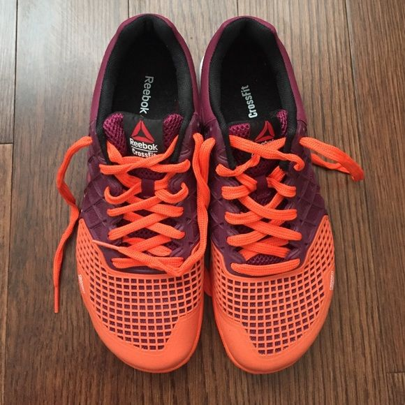 Reebok crossfit CF74 sneakers Never been worn Reebok crossfit CF74 sneakers in maroon and orange Reebok Shoes Athletic Shoes