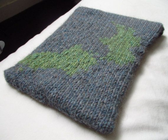 iPad cover hand knitted custom made country by TheKnittedKiwi