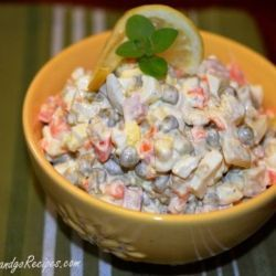 Olivier Salad aka Russian Salad | RecipeNewZ