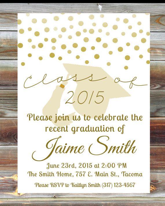 custom graduation party invitation gold graduation by