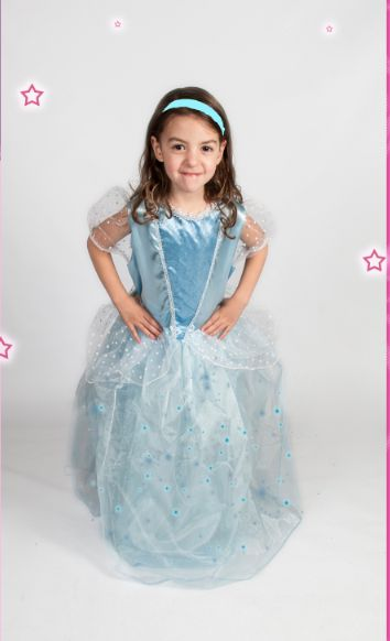 blue princess costume cinderella girls light up halloween glowing size xs s m l - Ebaycom Halloween Costumes