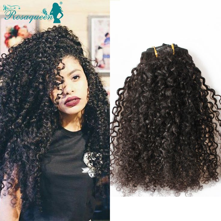 Kinky Curly Clip In Hair Extensions Natural Hair 3B 3C African American Clip In Human Hair Extensions 120g 7Pcs/set Clip Ins -- Visit the image link for more details.