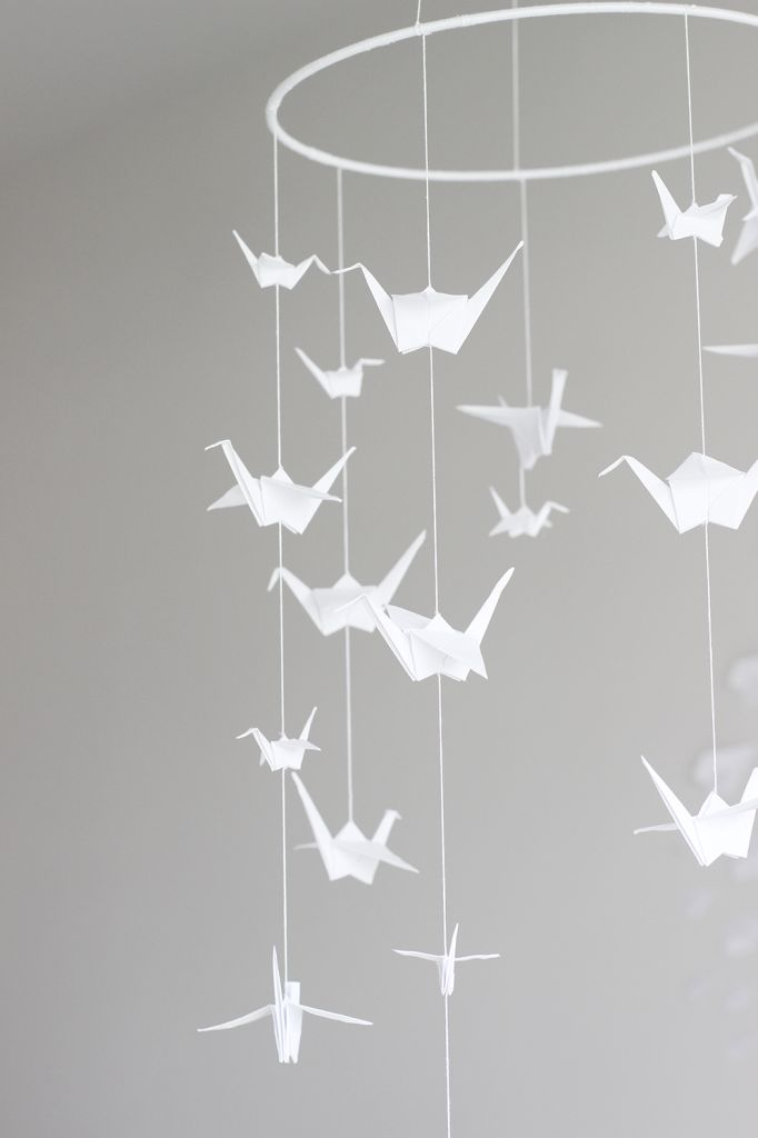 DIY: origami crane mobile