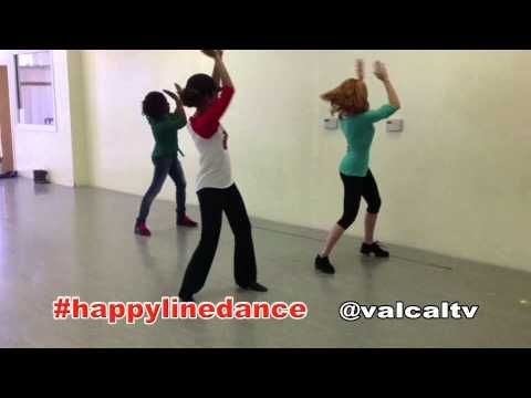 Happy Line Dance - YouTube    Okay you all, we need to learn this for the party.
