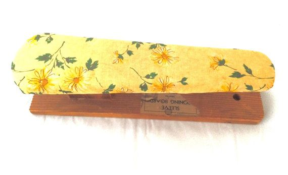 Vintage wood sleeve ironing board with by MyVintageApartment