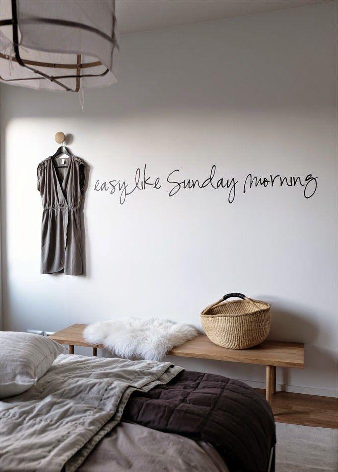 STIL INSPIRATION leuk een muziek tekst op de muur in woonkamer of slaapkamer.
