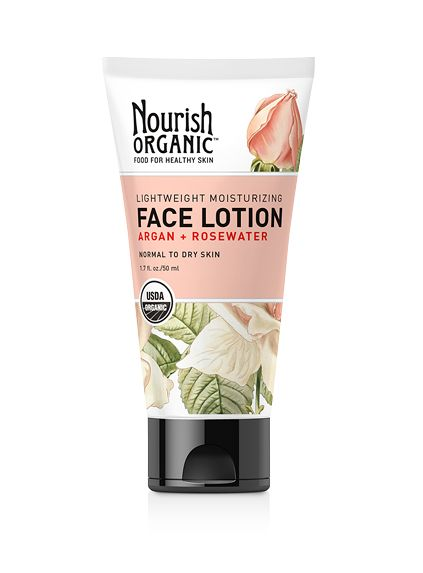 Lightweight Moisturizing Organic Face Lotion :  ARGAN + ROSEWATER  Softens skin for a healthier, younger-looking appearance Replenishes essential skin nutrients and boosts defenses Evens out tone and improves texture Improves skin elasticity This lightweight formula provides continuous moisture throughout the day, while replenishing essential skin nutrients. Moroccan Argan oil intensely hydrates and replenishes skin, rosewater $22