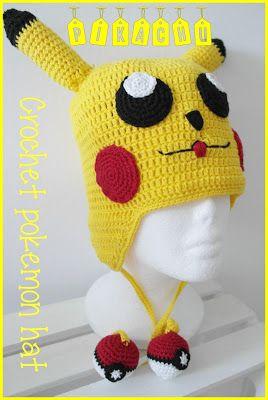 Mönster Pokemon Pikachu mössa.          Storleken är rätt stor ca 50-52 cm på denna jag har gjort, Men vill ni ha större så är det bara ...