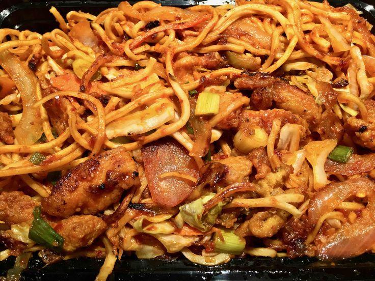 https://flic.kr/p/Qw2Mjm | chicken chow mein from Newa | www.placesiveeaten.com/blog/newa-in-the-tenderloin
