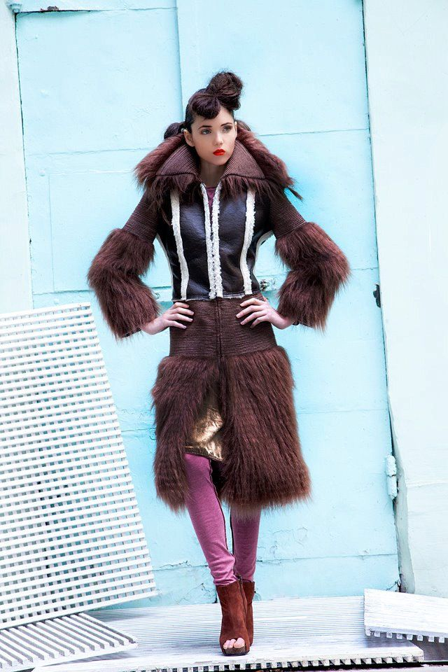 fur COAT COUTURE bespoke design wonderful faux by NATIPUREIDEA
