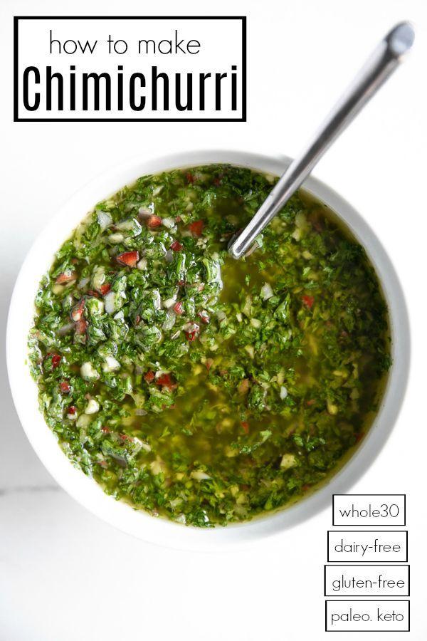 Chimichurri Recipe How To Make Chimichurri Sauce The Forked Spoon Recipe Chimichurri Recipes Chimichurri Recipe