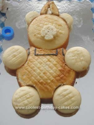 Homemade Corduroy Bear Birthday Cake: Our 2-year-old daughter's favorite character is Corduroy the teddy bear. She loves Corduroy. She even calls Teddy Grahams Corduroys. Not surprisingly,