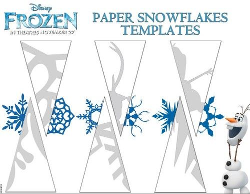 Photo of Frozen paper snowflakes templates for fans of Frozen. Frozen (2013)