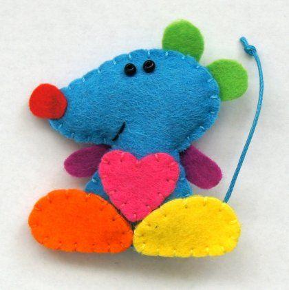 Zakochana mysia (proj. TinyArt), do kupienia w DecoBazaar.com