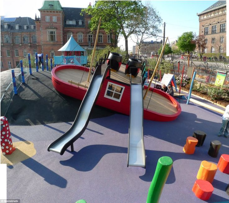 A Tugboat Playground Structure By Danish Designers Ole Nielsen And Christian Jensen How Can This