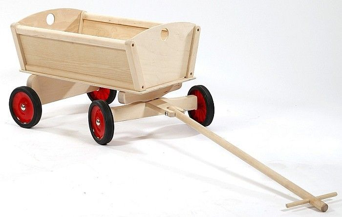 Drewniany wózek do ciągnięcia, Natura, zabawki na dwór | ZABAWKI \ Zabawki drewniane ZABAWKI \ Zabawki ogrodowe, plażowe \ Taczki, wózki ZABAWKI \ Lalki, domki, wózki, mebelki \ Wózki dla lalek NA PREZENT \ Prezent dla chłopca dystrybutor Hoplik (PS) | Hoplik.pl wyjątkowe zabawki