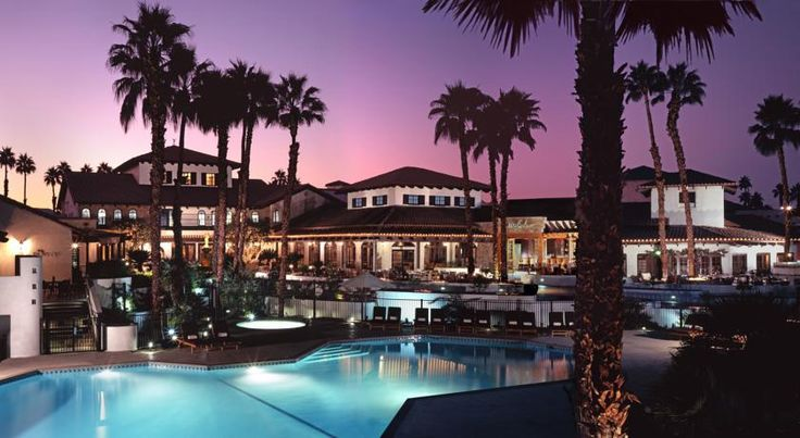 Omni Rancho Las Palmas Resort & Spa Rancho Mirage Multiple water slides, splash zones and pools are available at this Palm Springs resort. Ranchos Las Palmas Country Club is onsite. Rooms feature free WiFi and a flat-screen cable TV.