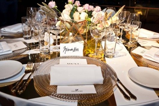 Miranda Kerr's Place Setting at Swarovski Dinner by @azbcreative