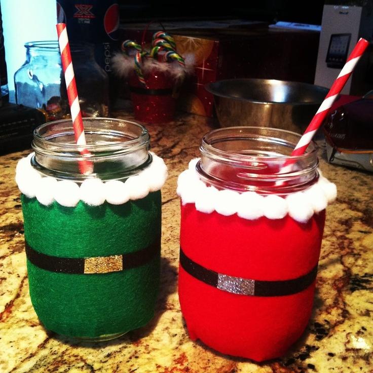 Santa & Elf Mason Jars