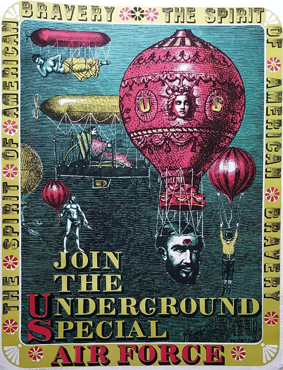 1968 Join The Underground Special Air Force by Alexander