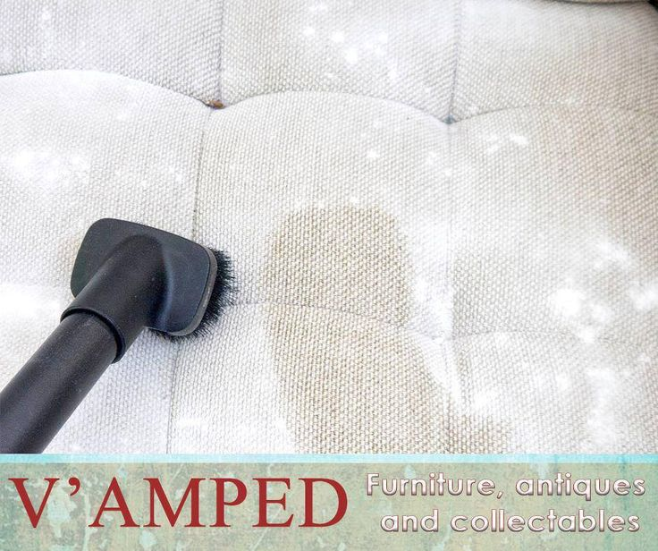 #LifeHack: Cleaning your couch is made easy with baking soda. First wipe down your couch with a clean dry cloth, then sprinkle baking soda on your couch and let it sit for at least twenty minutes. Vacuum the baking soda up with the brush attachment and then spot clean any tough stains that remain with a clean cloth and some cleaning solution. #VampedFurniture