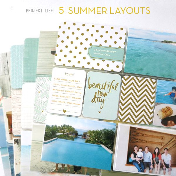 Project Life: 5 Summer Layouts | Tips and Card/Kit suggestions for beach themed layouts. Becky Higgins, Pocket Scrapbooking | Make Ideas Happen / Rianne Alonte