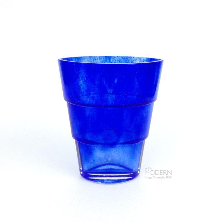 Kosta Boda Sweden Cobalt Blue Mezzo Vase by Ann Wahlstrom