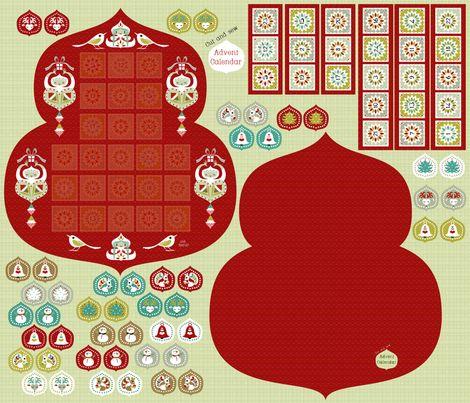 advent-calendar fabric by gaiamarfurt on Spoonflower - custom fabric