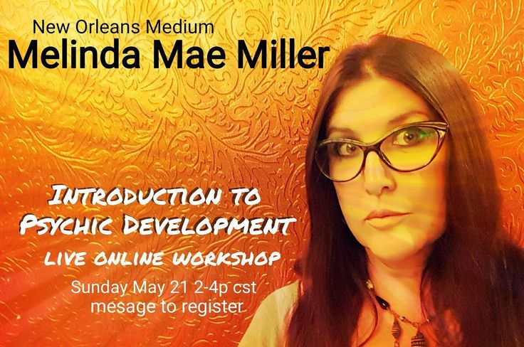 Join me #Sunday #May 21 from 2-4 pm central time for my #live #webcast Introduction to #Psychic #Development. I'll be explaining both aspects of the seven psychic senses how to identify them in yourself recognize your strong and less developed skills and answering your #questions on basic #psychicdevelopment. Cost for this #class is nominal it's a good primer on the basics to get you pointed in the #right #direction  #DM me to #register #mediummelinda #mediumship #neworleans #ithaca…