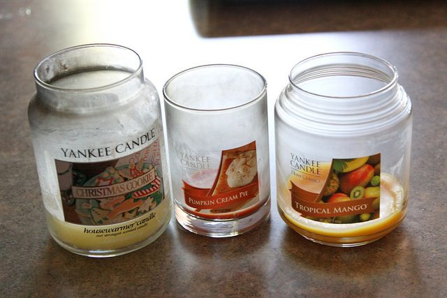 what to do with those yucky, almost-gone candles,....this is wonderful! Just put some candles in the oven