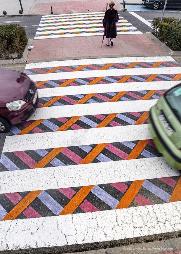 Intervenção nas ruas de Madrid - por  Christo Guelov