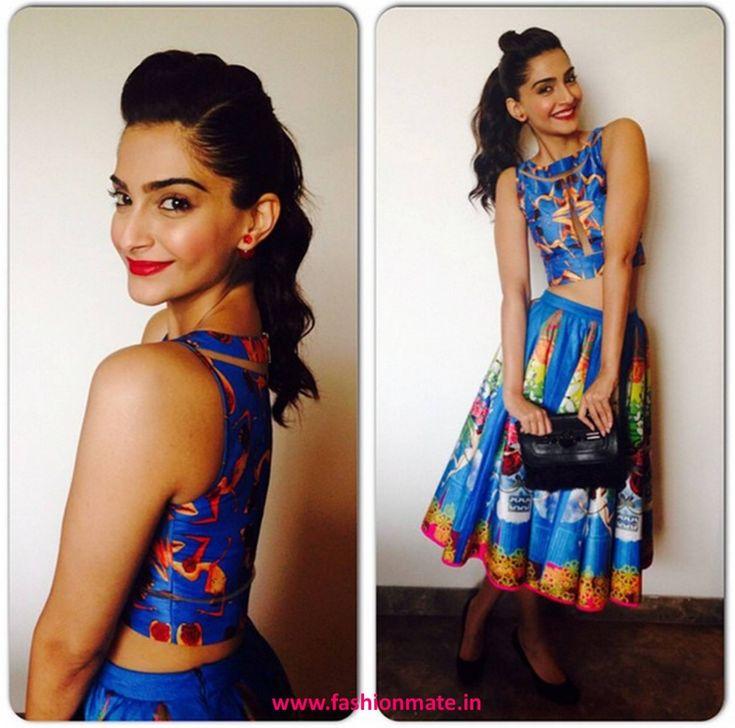Sonam Kapoor dons Kristy De Cunha & Dior for Khoobsurat Promotions
