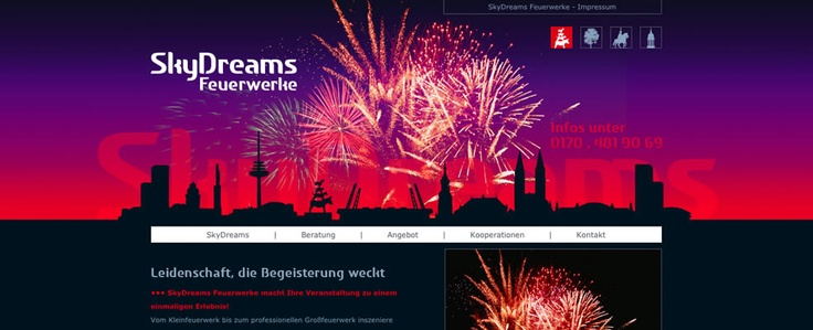 Webdesign für einen Feuerwerker von Albrecht & Stöter Werbeagentur Bremen (Achim) | www.albrecht-stoeter.de
