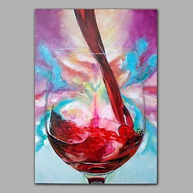 dipinti ad olio un moderno pannello di tela natura morta bicchiere di vino dipinte a mano pronti da appendere del 2016 a €55.85